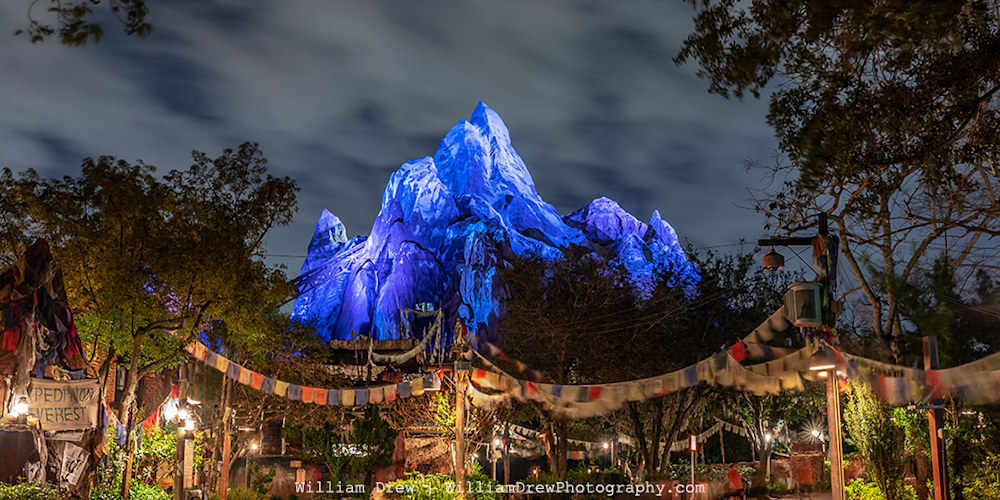 Expedition Everest in Blue Photography by William Drew Photography