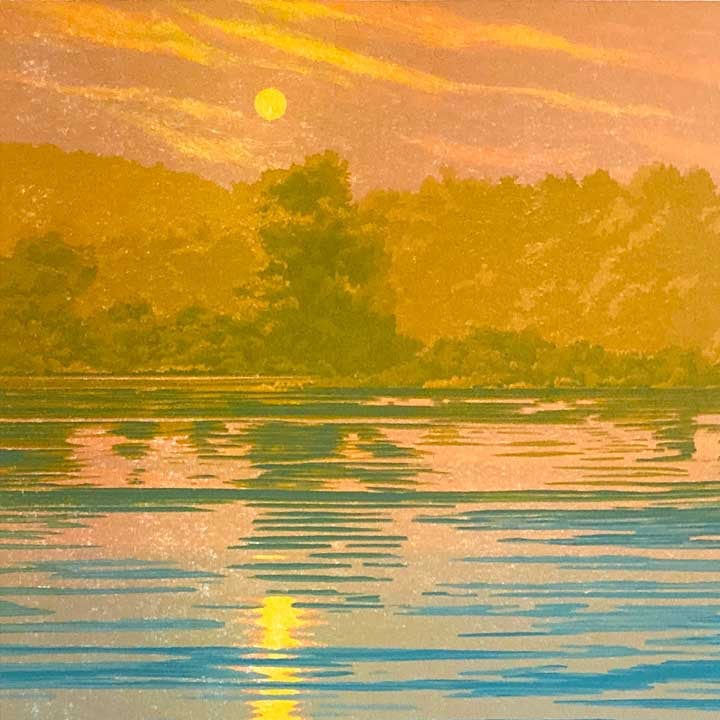 """Serenity"" (detail) woodcut by William H. Hays"