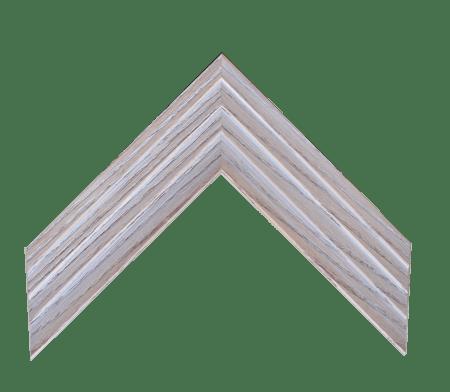 2.25-inch medium brown wood frame