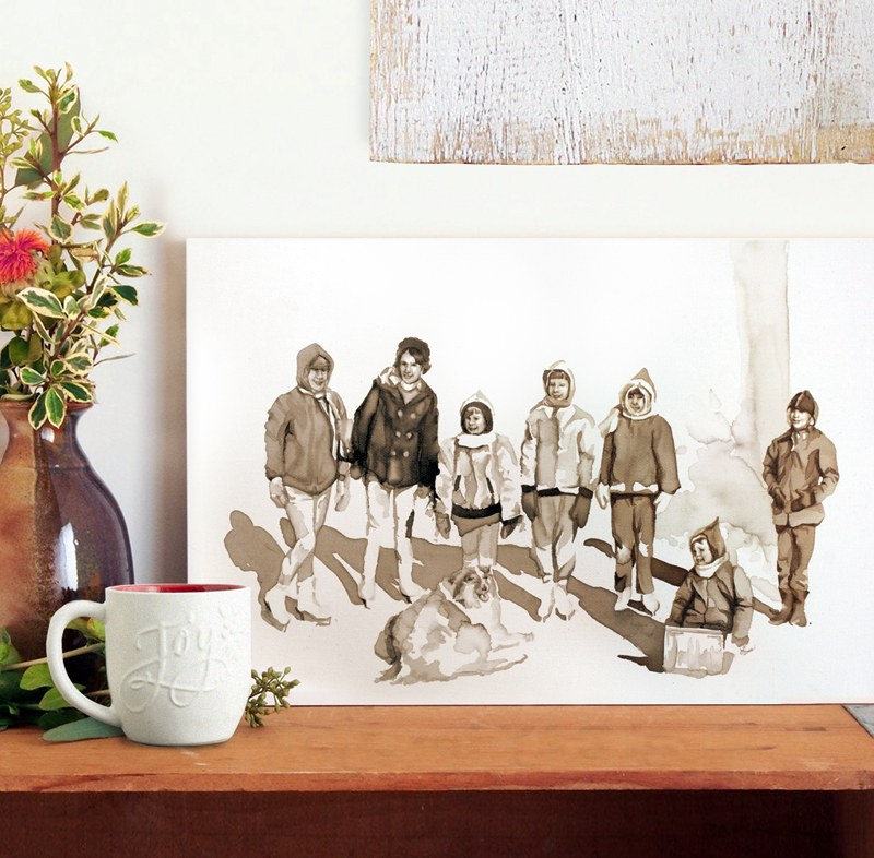 Dug Out - Coffee Painting by Lauren Daae