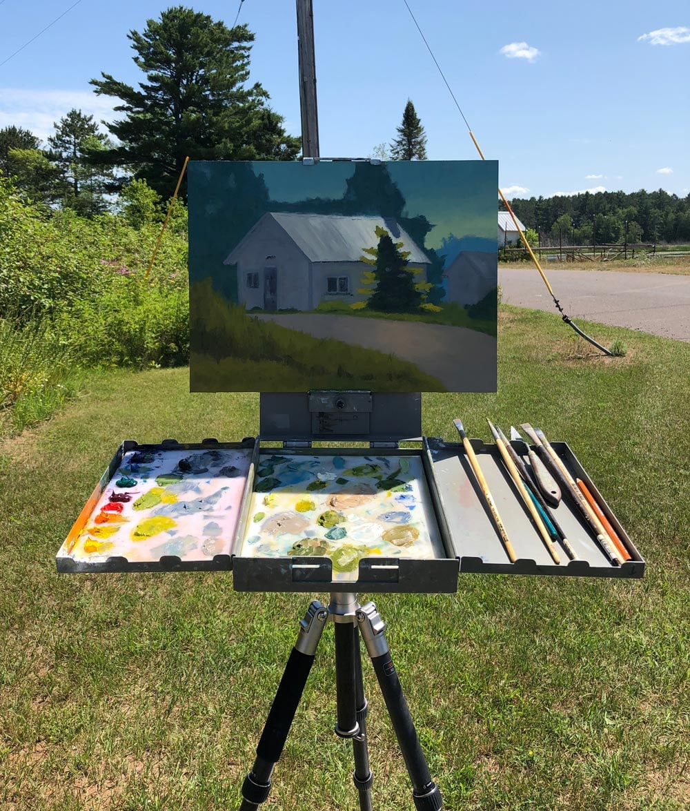 Abbey Fitzgerald Plein Air Painting in Port Wing, WI