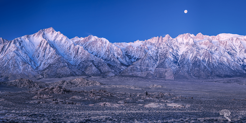 Moonset Over the Eastern Sierra