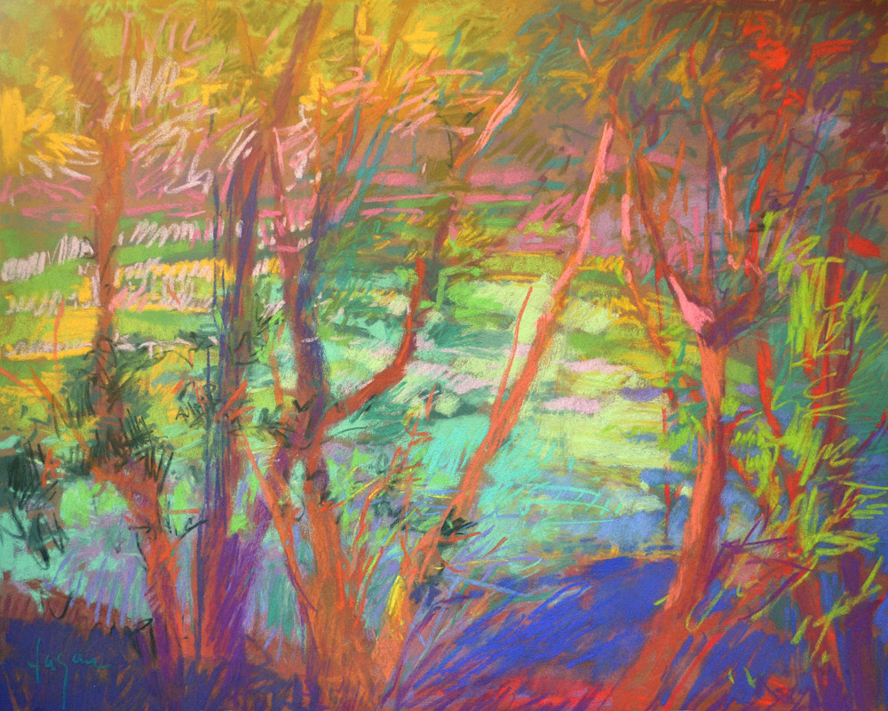 River Tapestry pastel painting