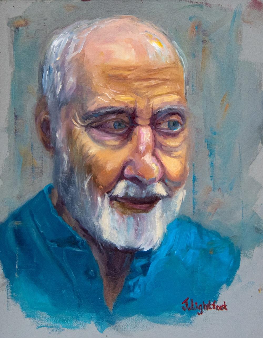 Portrait Study in Blue by Jamie Lightfoot