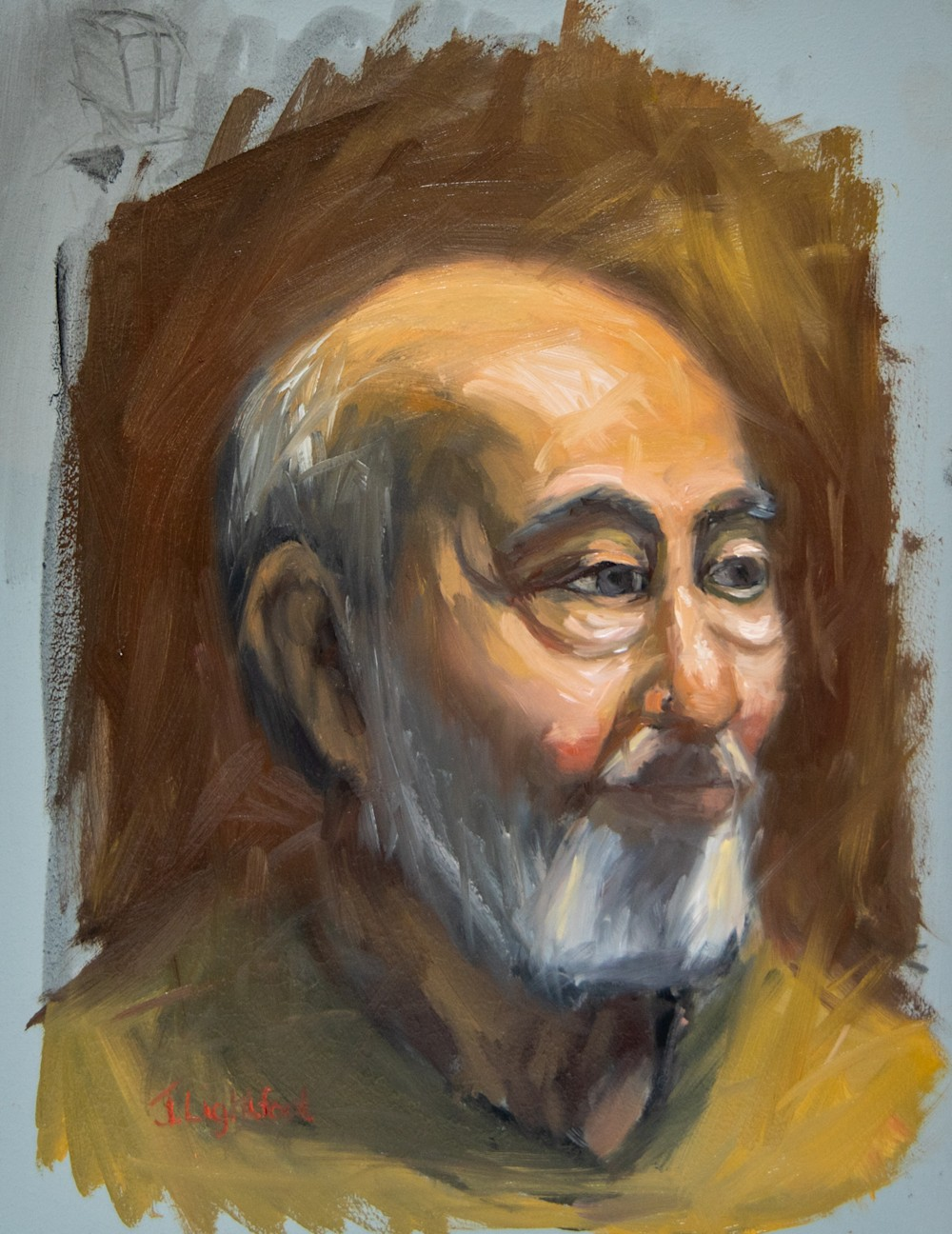 Oil Portrait Painting with a limited Zorn Palette