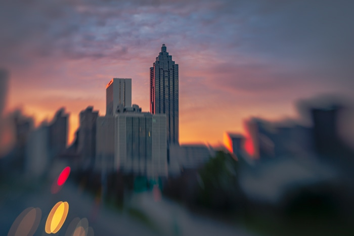 Suntrust Plaza in Atlanta taken with Lensbaby Sweet 50