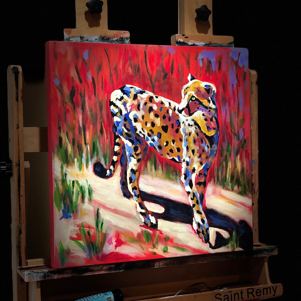 Colorful Cheetah Painting