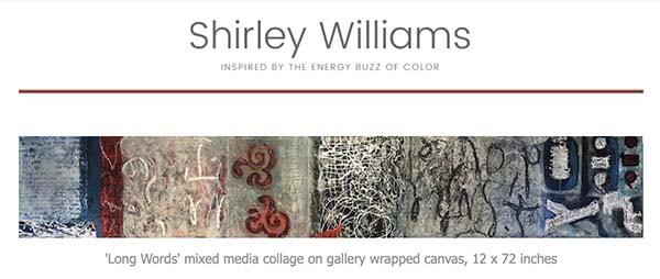 Blog header for shirley williams art news