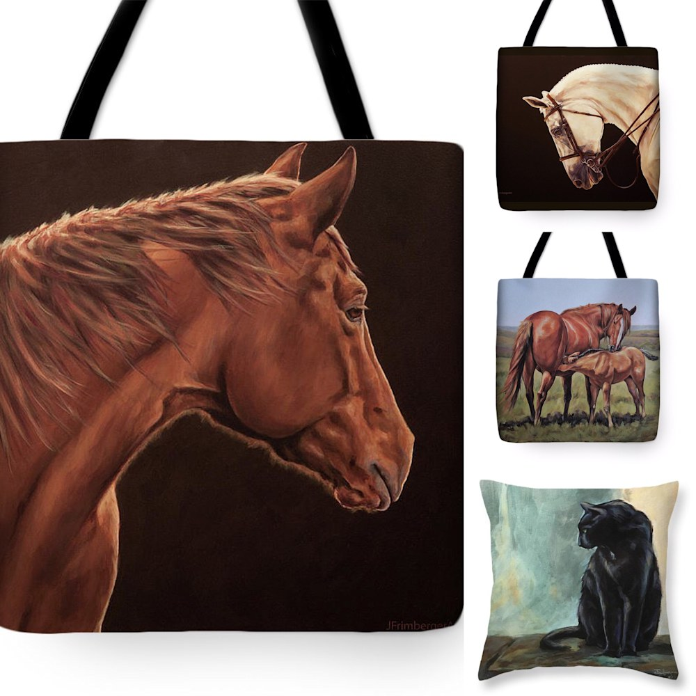Sample of tote-bags with my artwork
