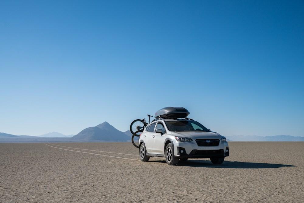 Subrau Crosstrek on the Black Rock Desert Playa