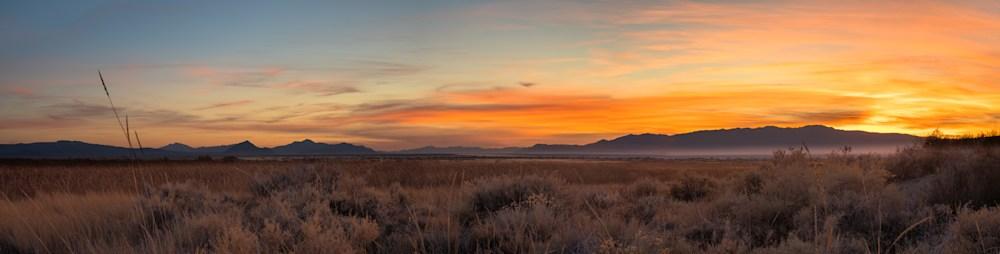 Black Rock Desert Colorful Panorama Sunset