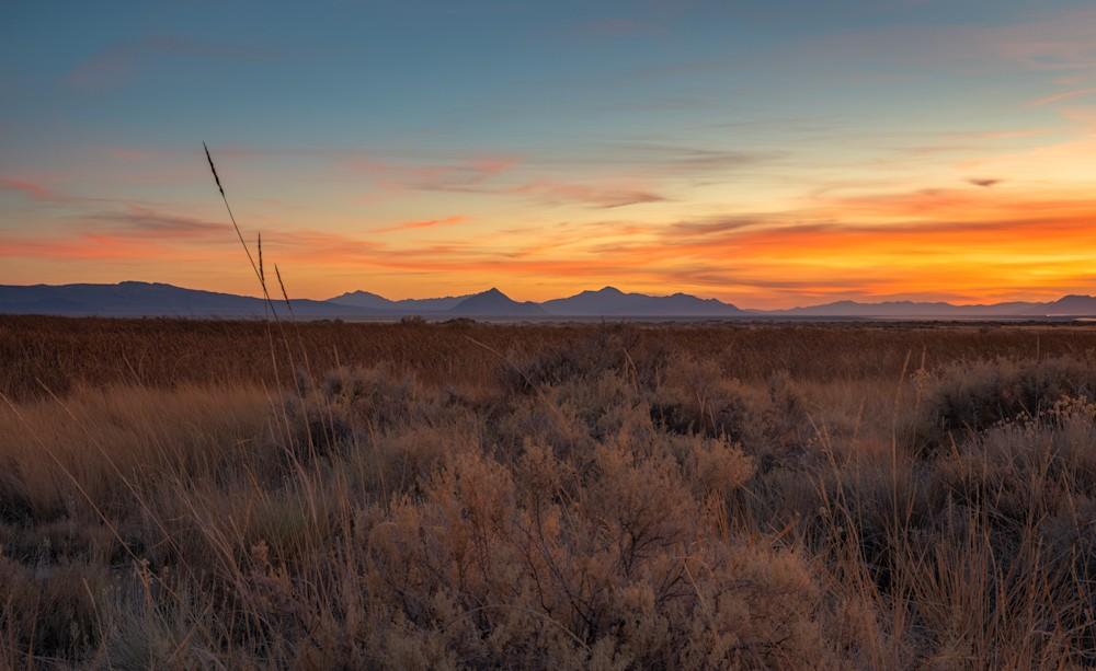 Black Rock Desert Colorful Sunset