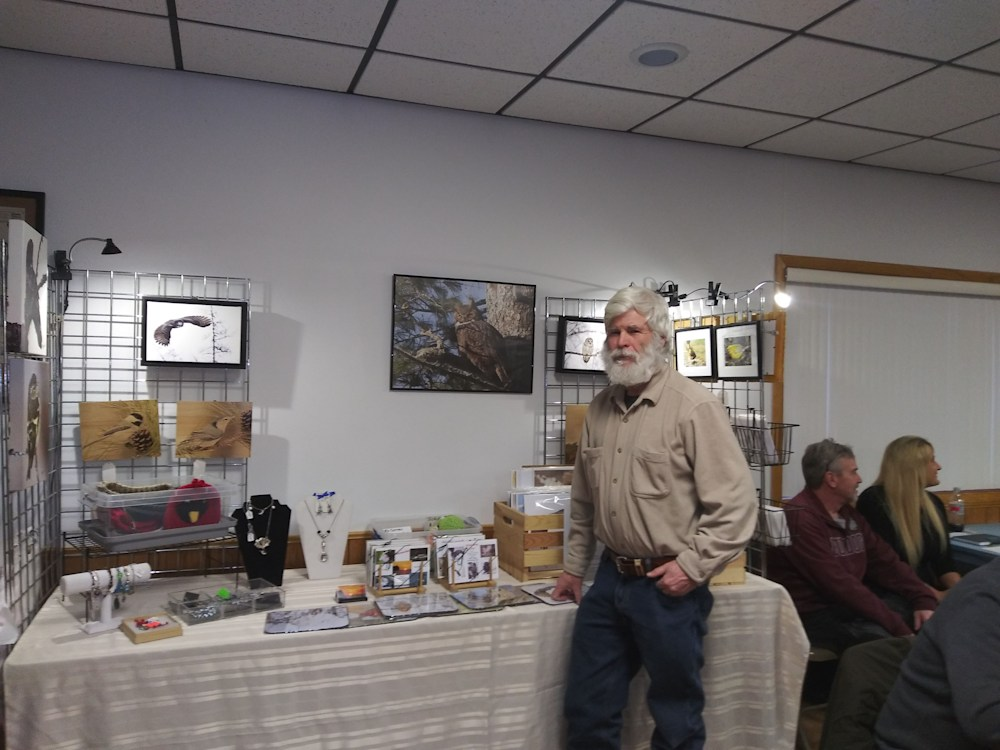 Larry's table at the Birding Festival