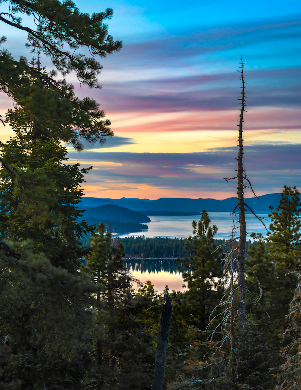 Along the West Shore and Into the Clouds.  Lake Tahoe Basin.  California.