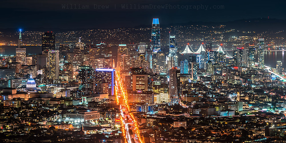 Twin Peaks view of Downtown San Francisco Photograph