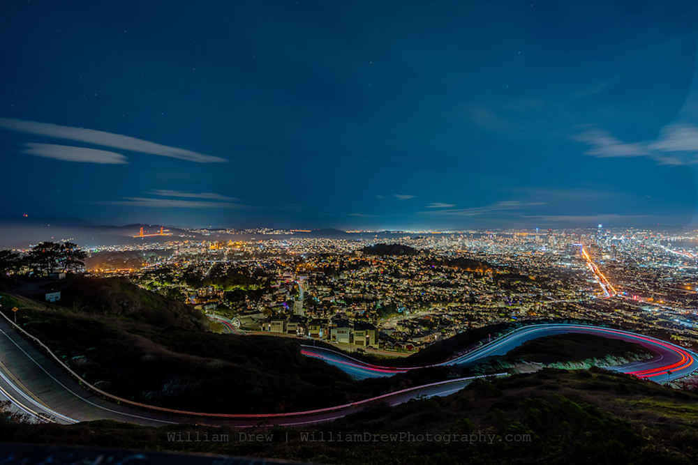 Twin Peaks Golden Gate San Francisco Photograph