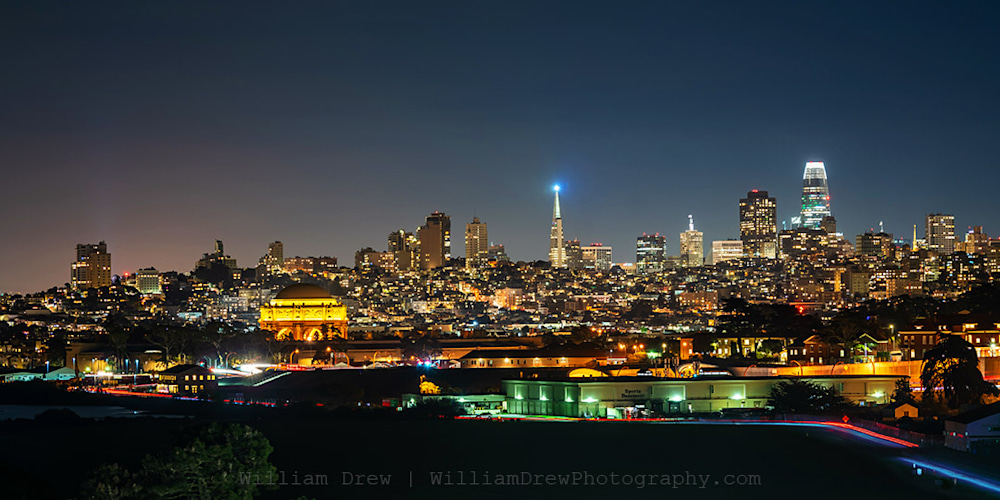 Chrissy Field View of Downtown San Francisco Photograph