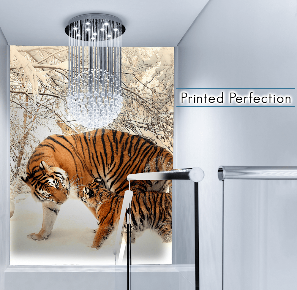High-end Room detailing the text of Acrylic prints at Printed Perfection