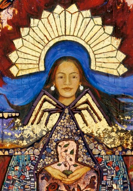 la conquistadora santa fe corn maiden spider woman dine