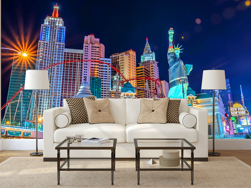 New York New York Las Vegas - Las Vegas Wall Murals | Custom Sizes and Free Ground Shipping