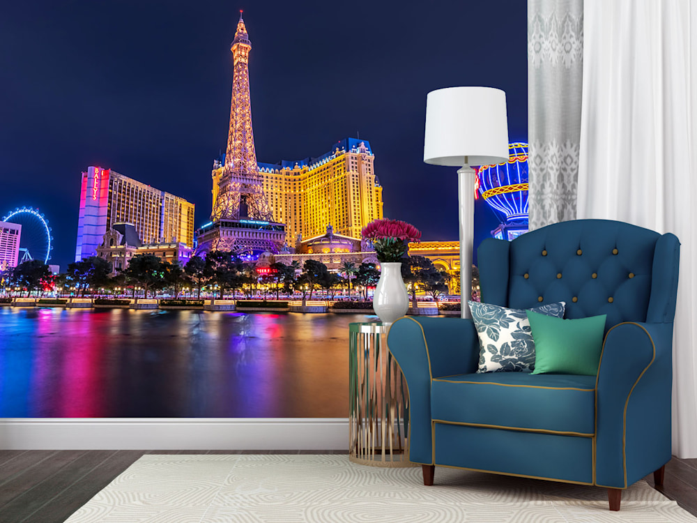 Paris Hotel Las Vegas - Las Vegas Wall Mural | Custom sizes and free ground delivery