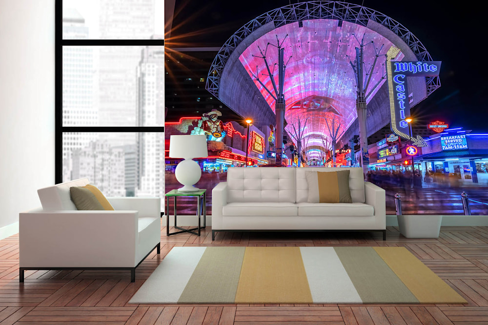 Freemont Street - Vegas Wallpaper Murals | Custom sizes and free ground shipping