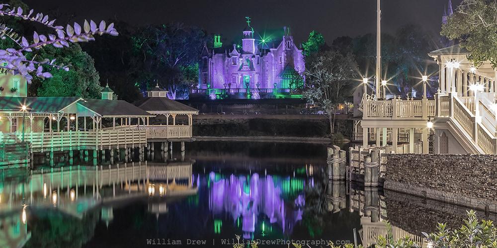 Walt Disney World's Haunted Mansion Reflection 2 - MNSSHP Photos | William Drew Photography