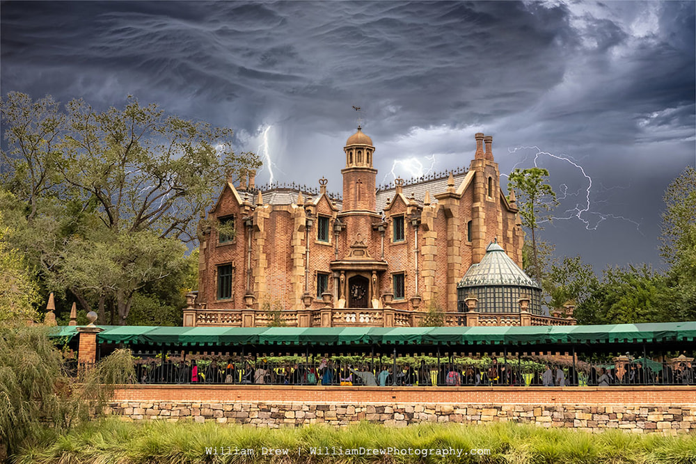 Stormy Haunted Mansion - Disney World Images of the Haunted Mansion | William Drew Photography