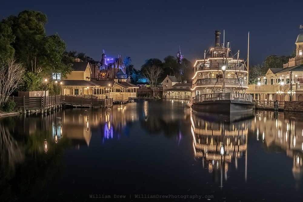 Rivers of America Reflections - Disney Artwork for Sale | William Drew Photography