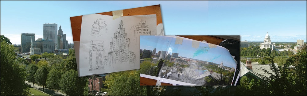 Drawings of buildings, be sure you see the structures clearly