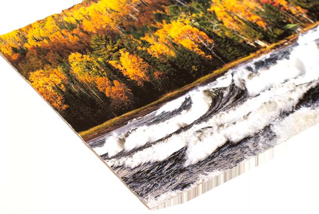 image demonstration a deckled flush edge finish for paper