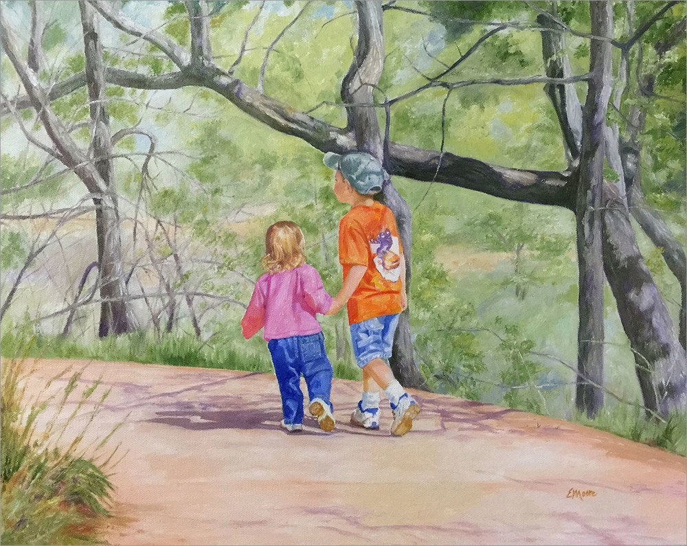 Hold My Hand original oil painting by Elizabeth Moore