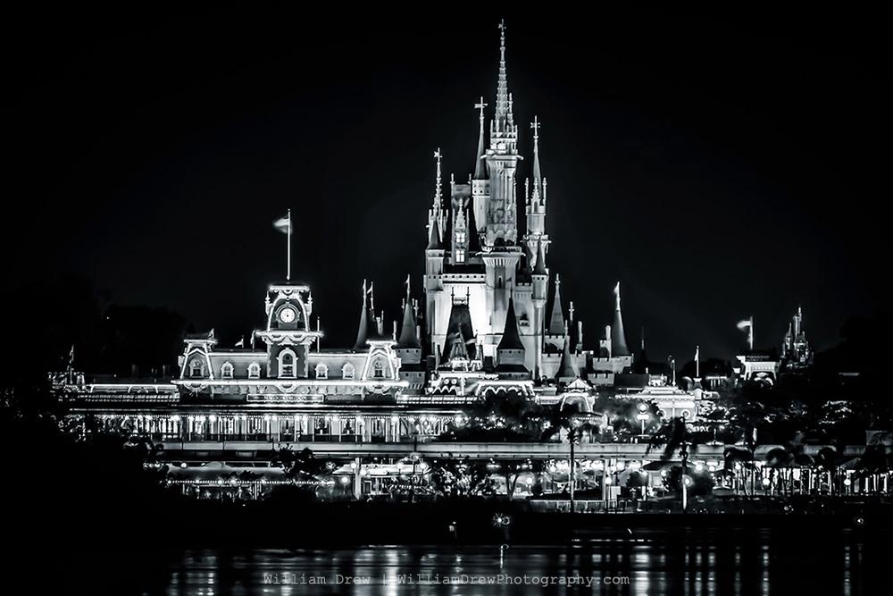 Magic Kingdom Black and White - Disney Wall Art | William Drew Photography
