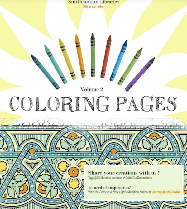 Free Coloring Books from Smithsonian Libraries