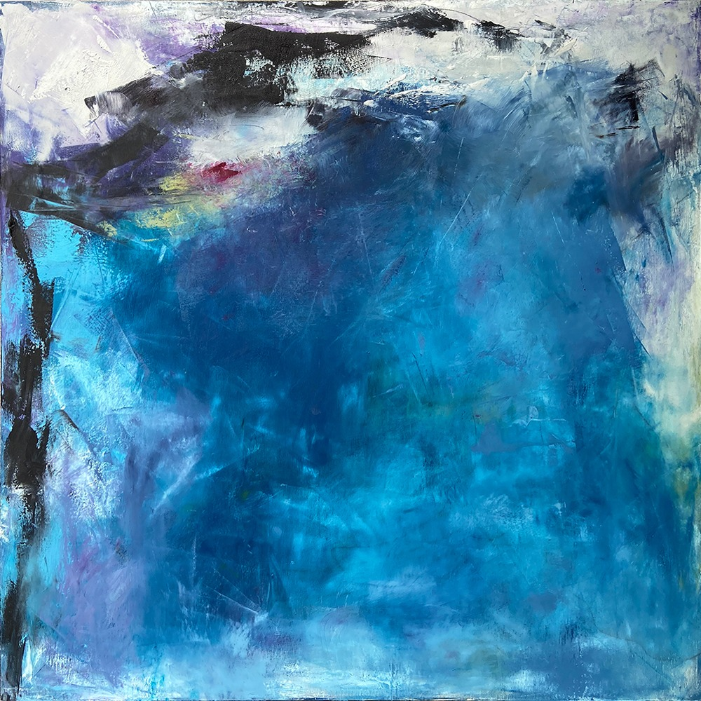 Water Series: Taught by Thirst, original abstract painting by Dawn Boyer