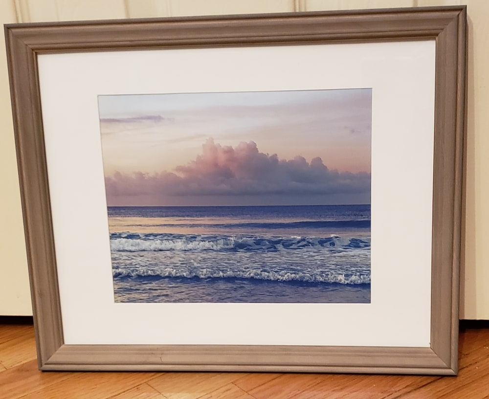 Framed print of Cotton-Candy Clouds