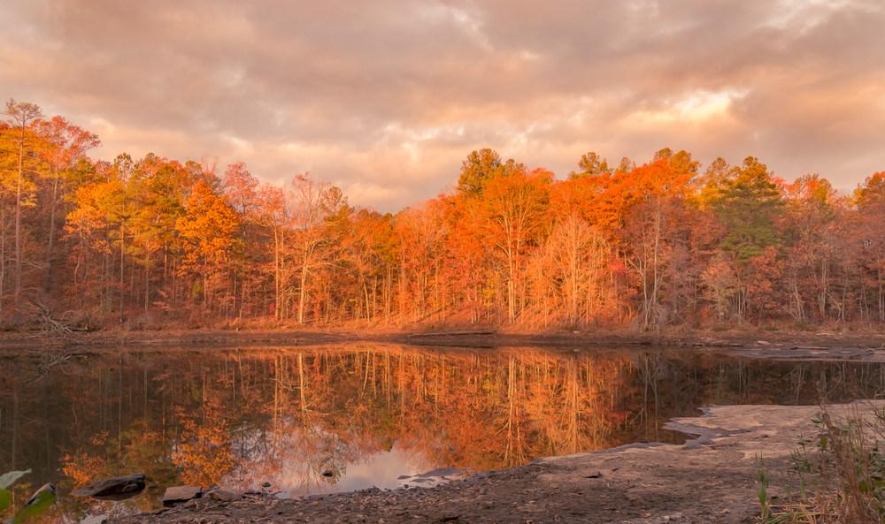 A beautiful fall sunrise