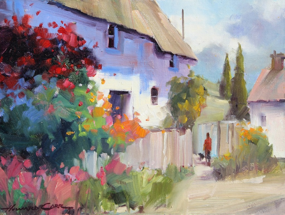 Morning Stroll by Howard Carr Original Oil Painting