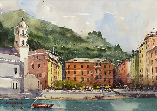 Italy Watercolor by Chuck Albanese