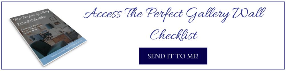 The free perfect gallery wall checklist.