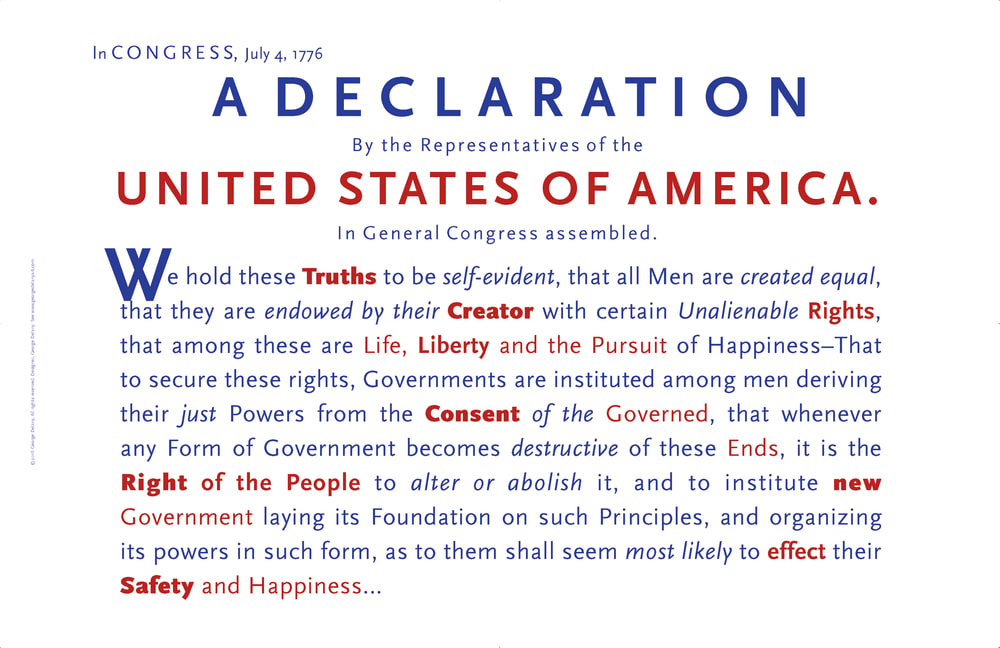 usa wall art, the Declaration of Independence, americana