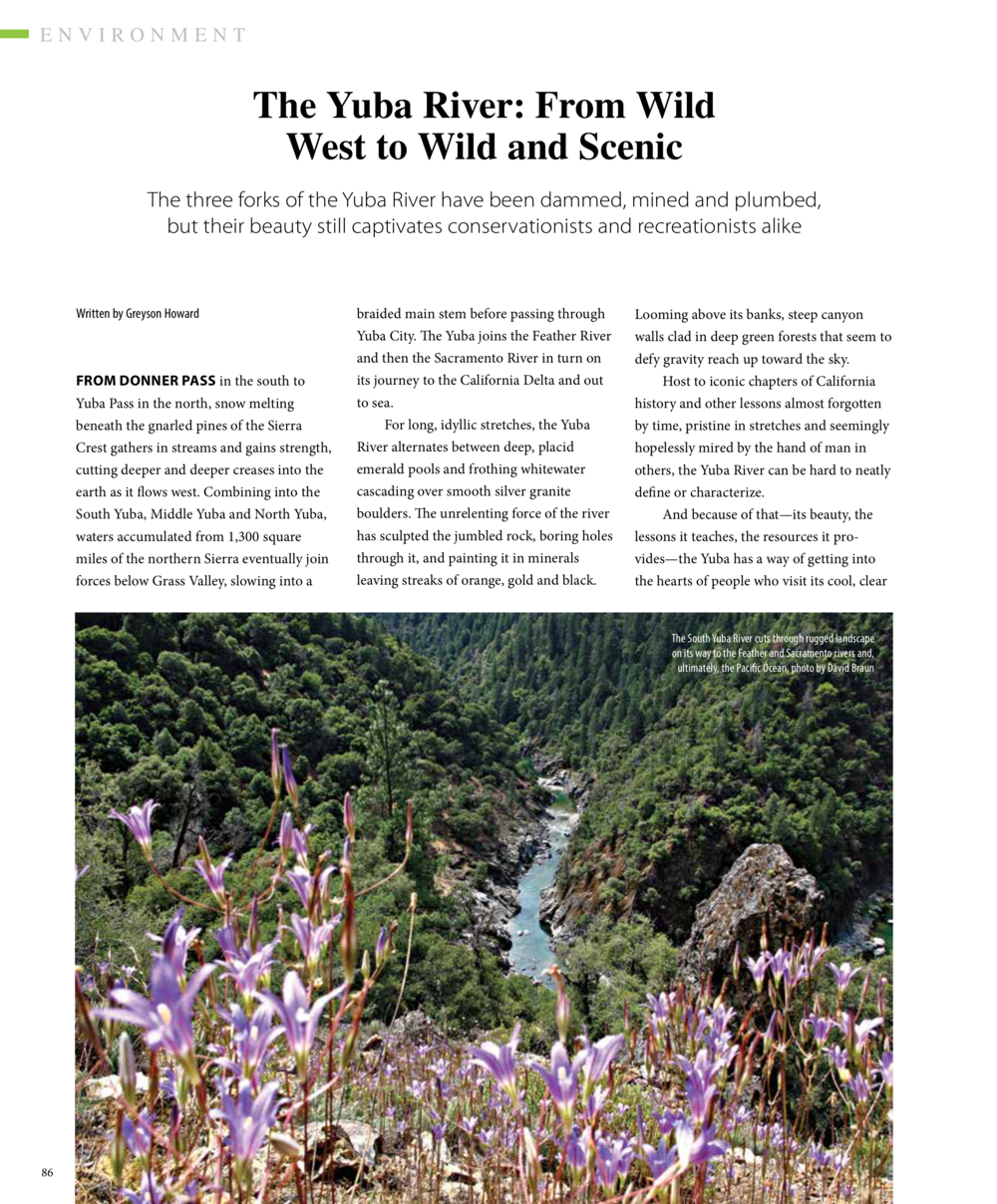 Yuba River Bend as seen in Tahoe Quarterly Summer 2020 Issue