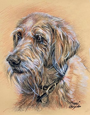 "#8. Pastel pencils (Pet, 11x14, ""Maize"" colored Pastel Mat)"