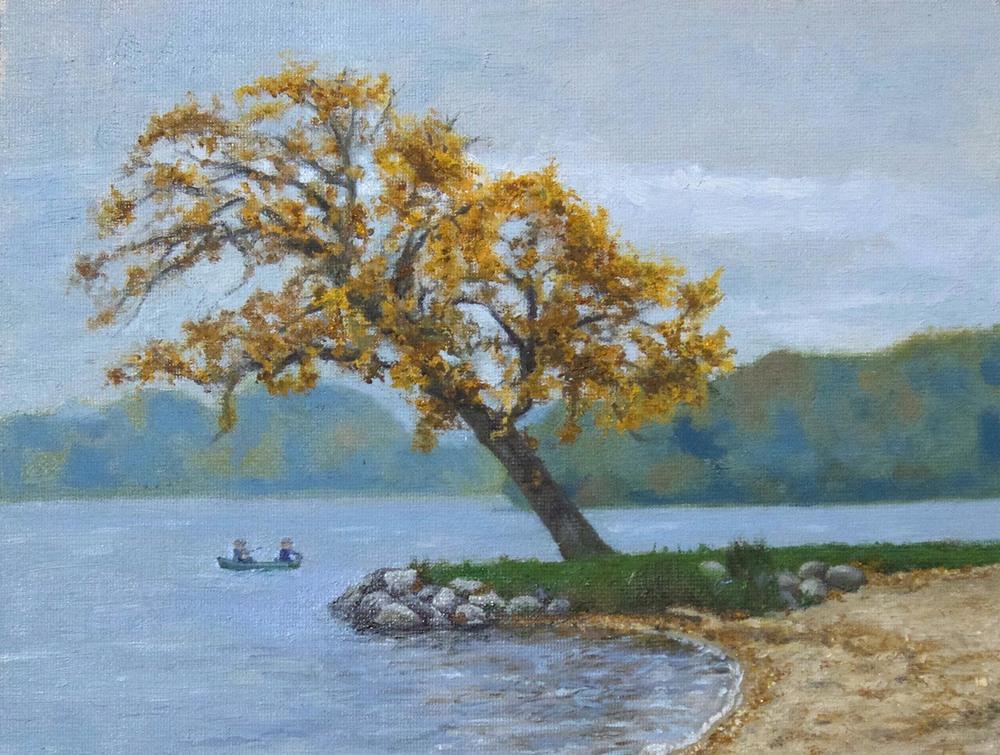 Fall painting at Medicine Lake