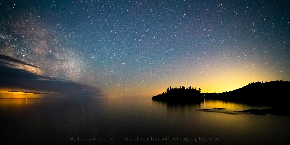 Ellingson Island and the Milky Way | Astrophotography by William Drew Photography