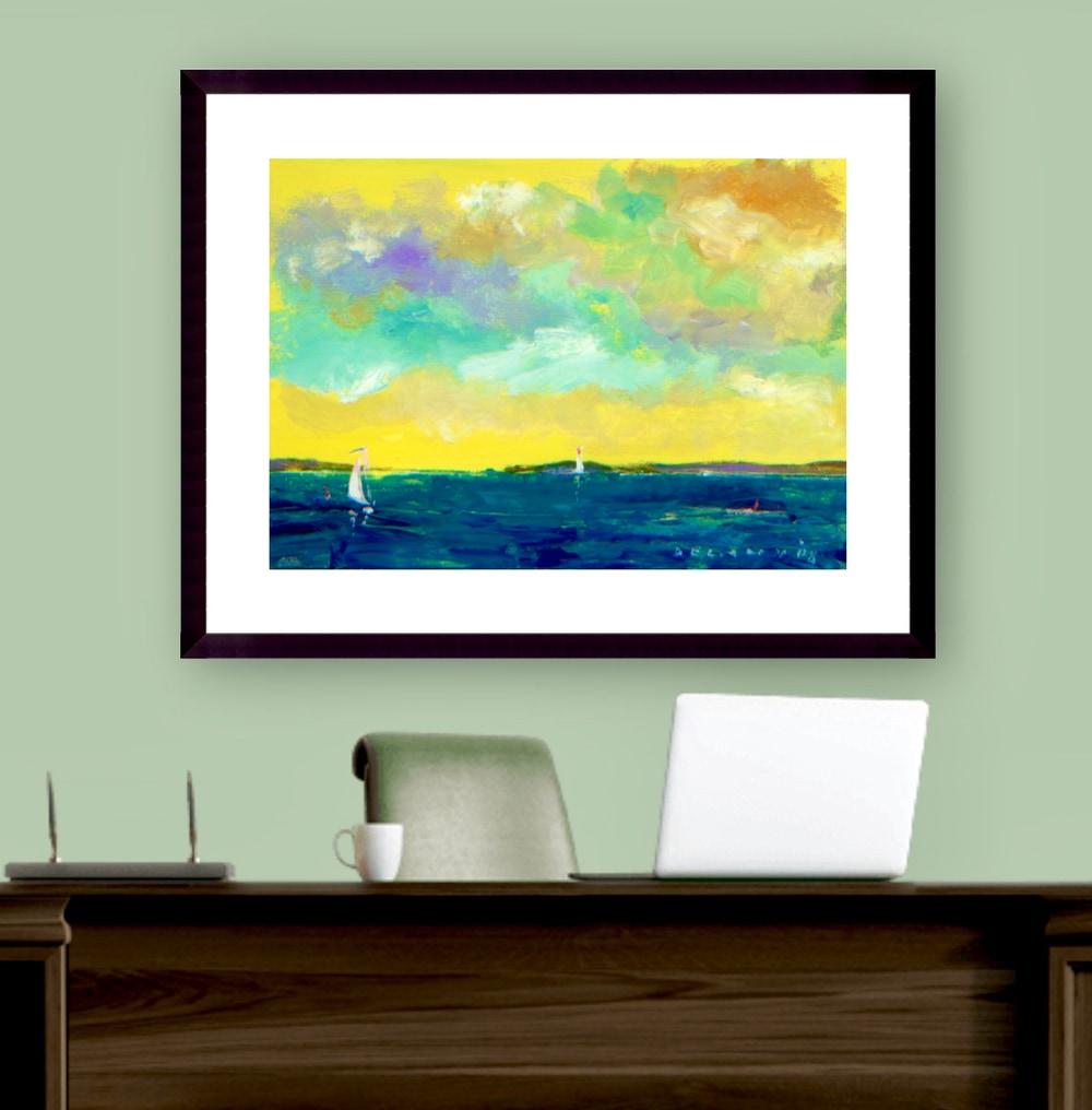 Summer Home Business Art Print