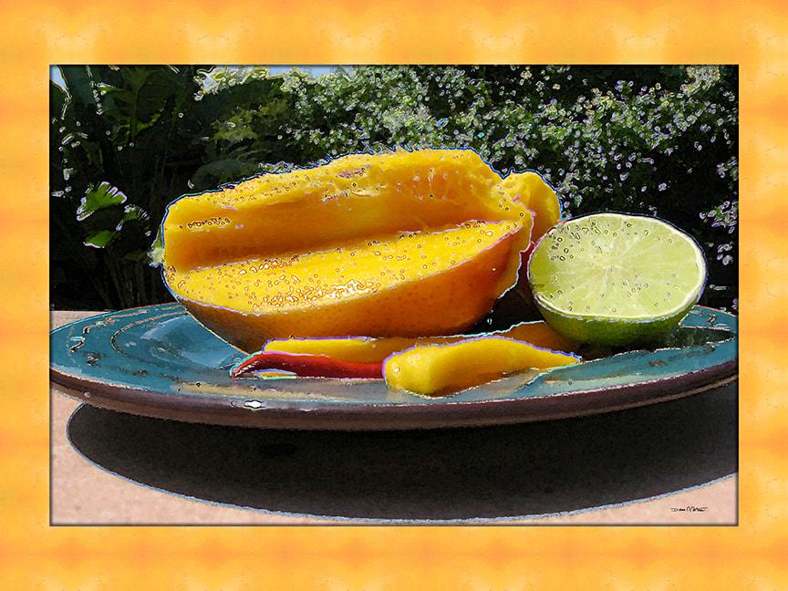 Almost Mango Salsa art by Debra Cortese