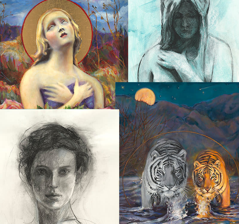 Inspired paintings - reproductions on fine art paper & canvas