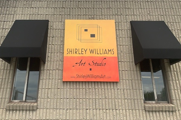 New sign and awnings for Shirley Williams Art Studio