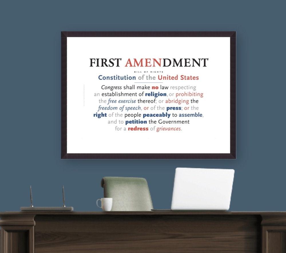 First Amendment poster